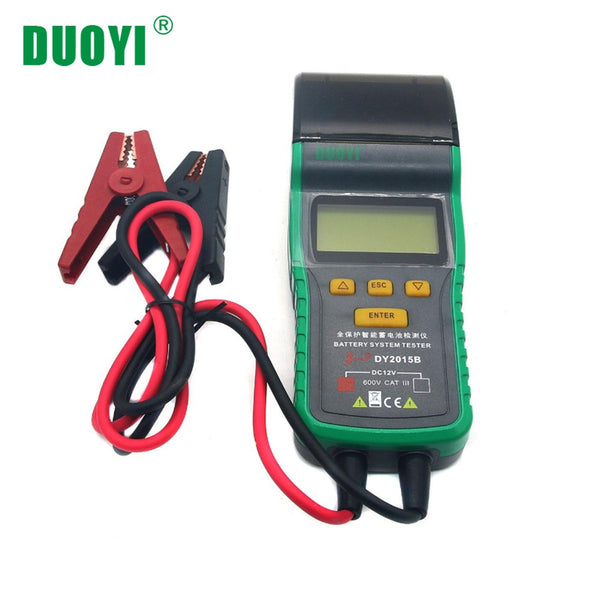 DUOYI DY2015B 12V Automotive Battery Tester with Printer Auto Power Electronic Load Battery Analyzner - VXDAS Official Store
