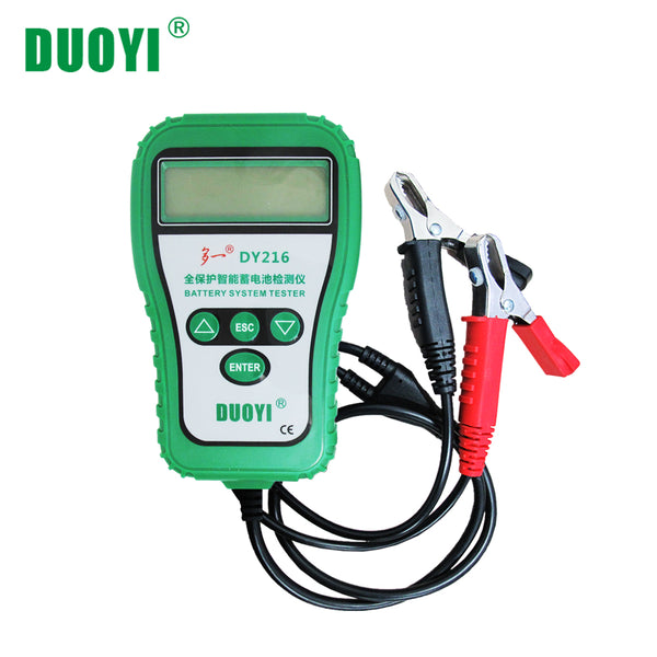 DUOYI DY216 9 18V Automotive Battery Tester Diagnostic Lead Acid Batteries Analyzer CCA 100-1700 2.5in LCD Display for Light Truck - VXDAS Official Store