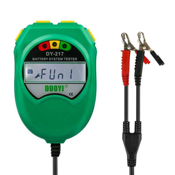 DUOYI DY217 9-18V Automotive Storage Battery Tester Lead-Acid Battery Healthy Analyzer CCA 100-1700 LCD Display Diagnostic Tool - VXDAS Official Store