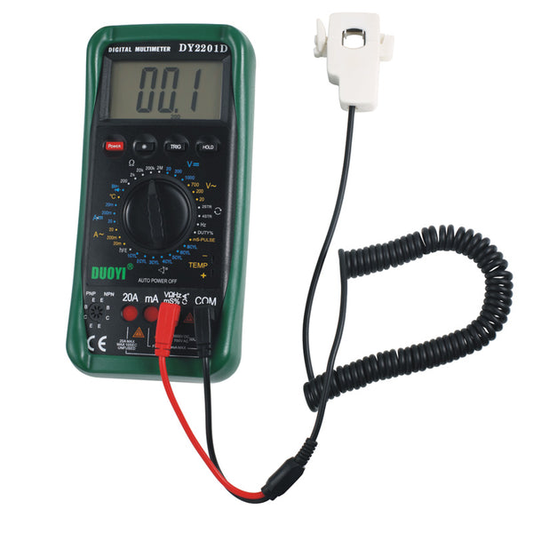 DUOYI DY2201D LCD Digital Automotive Multimeter Frequency Temp Tester with Speed conversion sensor Non-contact RPM Dwell angle - VXDAS Official Store