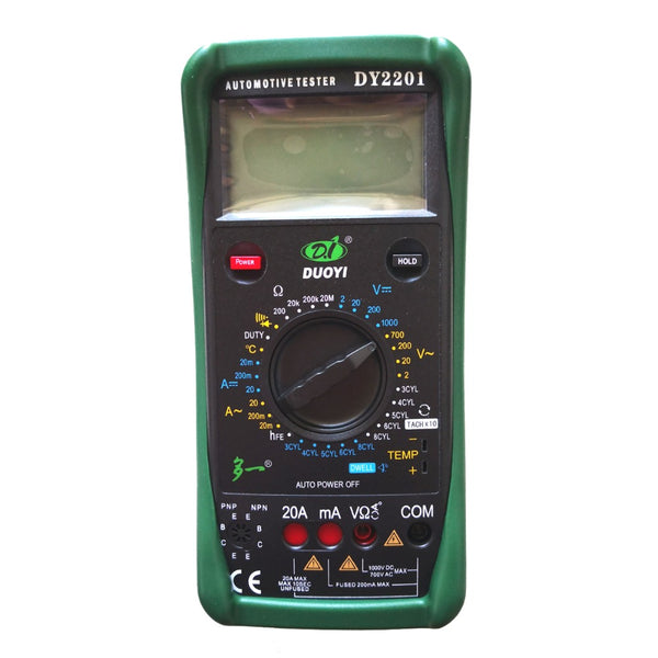 DUOYI DY2201 Digital Automotive Tester Multimeter 500-10000 RPM Dwell Angle Temperature Meter Multimetro - VXDAS Official Store