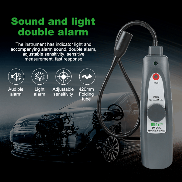 DUOYI DY26A Ultrasonic Leak Location Determine Meter Car Window Sealing Flaw Gas Vaccum Pressure Locator Sound Light Alarm - VXDAS Official Store
