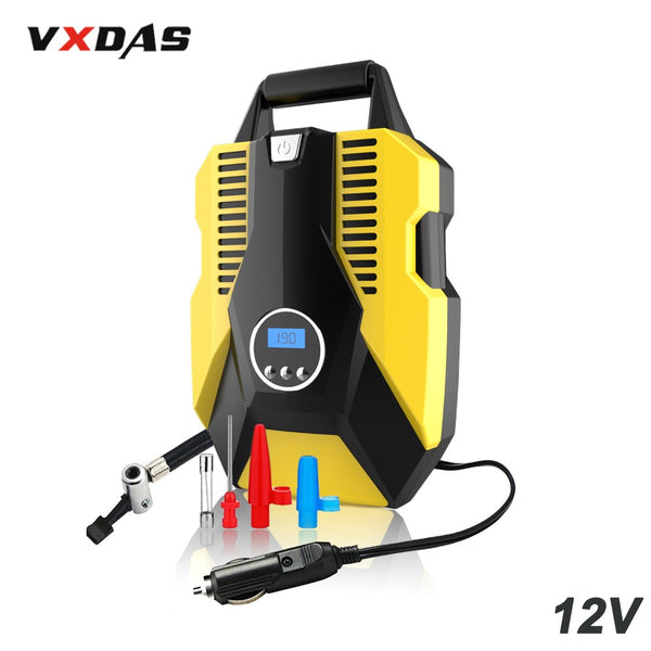 VXDAS Digital Tire Inflator DC 12V Auto/Car Inflatable Pump 150 PSI Pressure Gauge With LED Light Air Compressor Diagnostic Tool - VXDAS Official Store