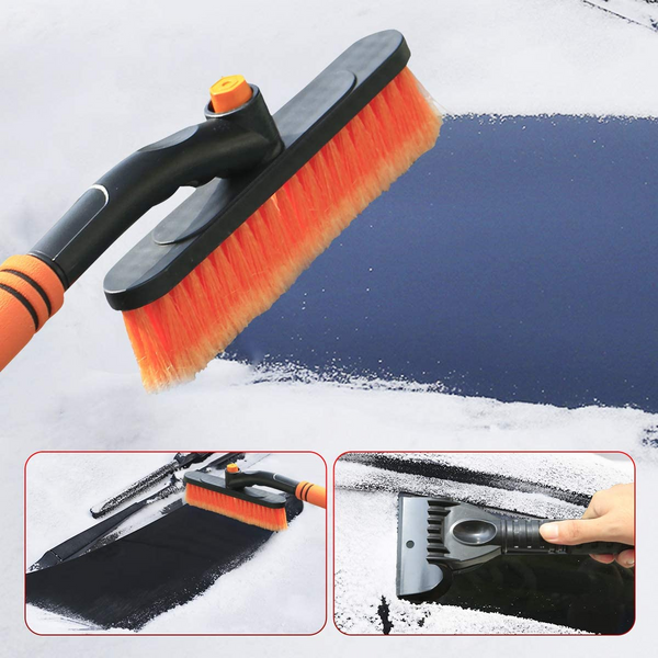 Car Ice Scraper 2 in 1 Multi-Function Telescopic Snow Brush for Car Windshield Snow Removal