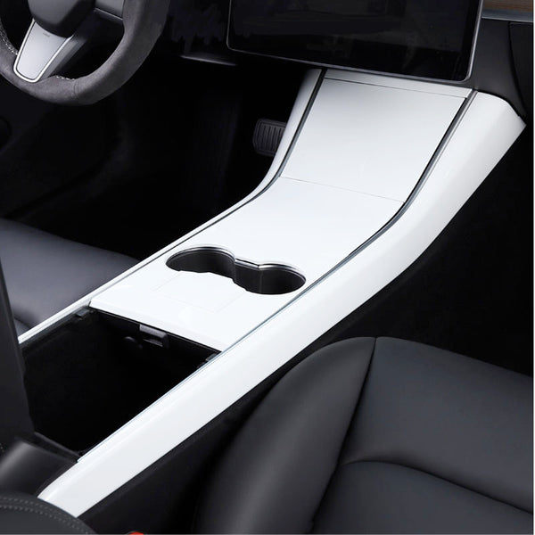 Car Cup Decoration Frame Interior Decoration Cover Sticker Protector With Professional Squeegee For Tesla Model 3 - VXDAS Official Store