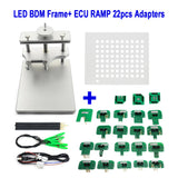 LED BDM Frame Stainless Steel with ECU RAMP 22pcs Adapters Full Set for KTAG KESS KTM - VXDAS Official Store