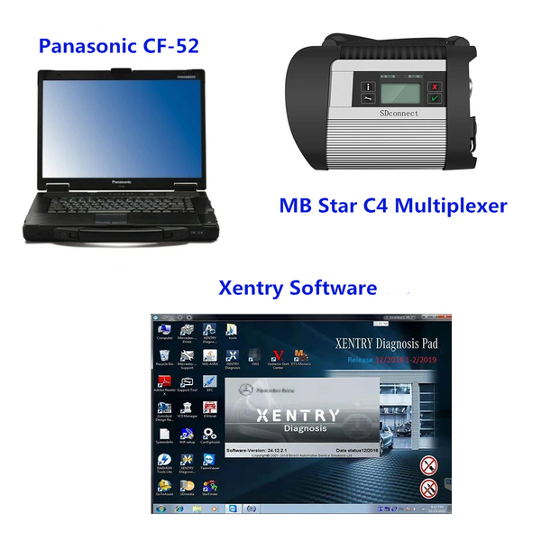 MB Star C4 Diagnostic Tool with V2020.09 Xentry Software SSD Installed in Laptop Full Set Ready to Use