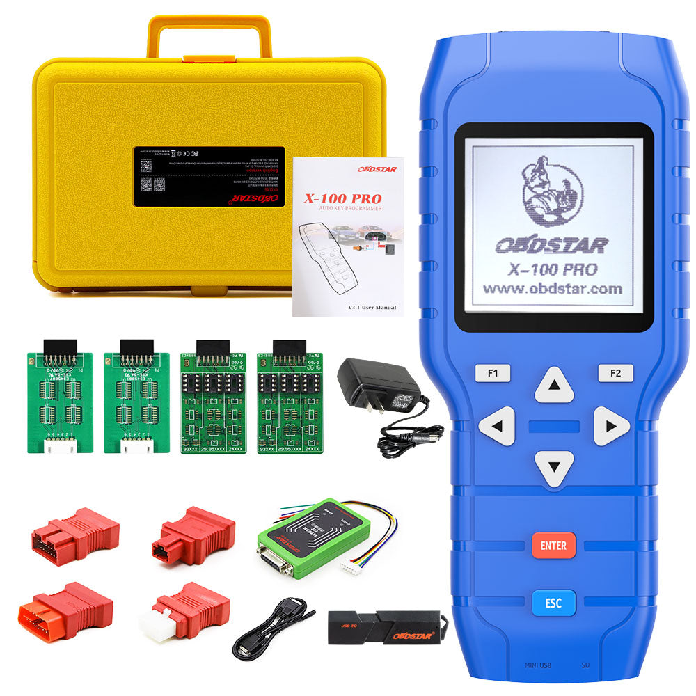 OBDSTAR X-100 PRO Auto Key Programmer (C+D) Type for IMMO+Odometer+OBD Software and and Free EEPROM 2-in-1 Adapter
