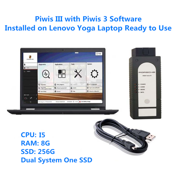 Piwis III with Lenovo Yoga S1 Laptop Full Set in VXDAS
