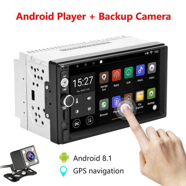 2 din 7 inch HD Android player Car radio Digital touch screen Bluetooth mirror link USB cable Video Media Universal - VXDAS Official Store
