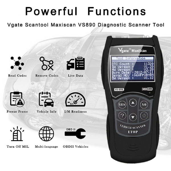Vgate Maxiscan VS890 Scan Tool - VXDAS Official Store
