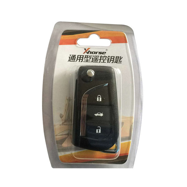 XHORSE XN008 Toyota Style Wireless Universal Remote Key 3 Buttons (Individually Packaged) for VVDI Mini Key Tool 5Pcs - VXDAS Official Store