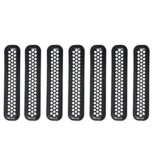 Hooke Road Black Front Grille Clip-in Mesh Inserts for 1997-2006 Jeep Wrangler TJ & Unlimited (Pack of 7) - VXDAS Official Store