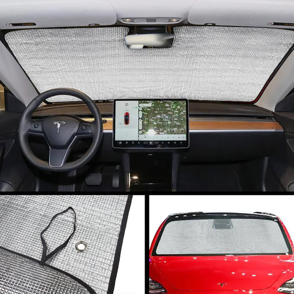 Tesla Model 3 Front Windshield Sunshade to Prevent Ultraviolet Heat Insulation