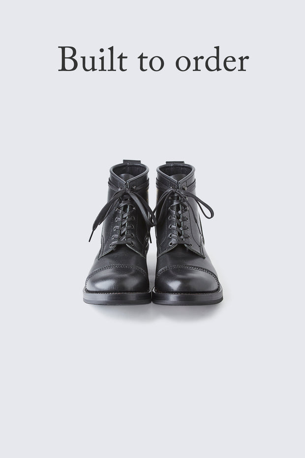BUILT TO ORDER - AB-02CH HORSEHIDE CAP TOE LACE-UP BOOTS