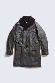 AD-WX-06 WAXED COTTON MACKINAW COAT