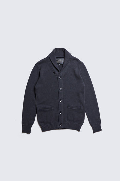 ACV-KN05 COTTON SHAWL COLLAR KNIT CARDIGAN