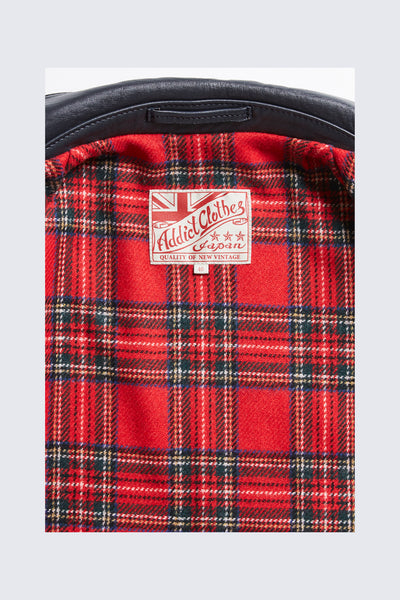 CHANGE THE LINING TO RED WOOL TARTAN CHECK