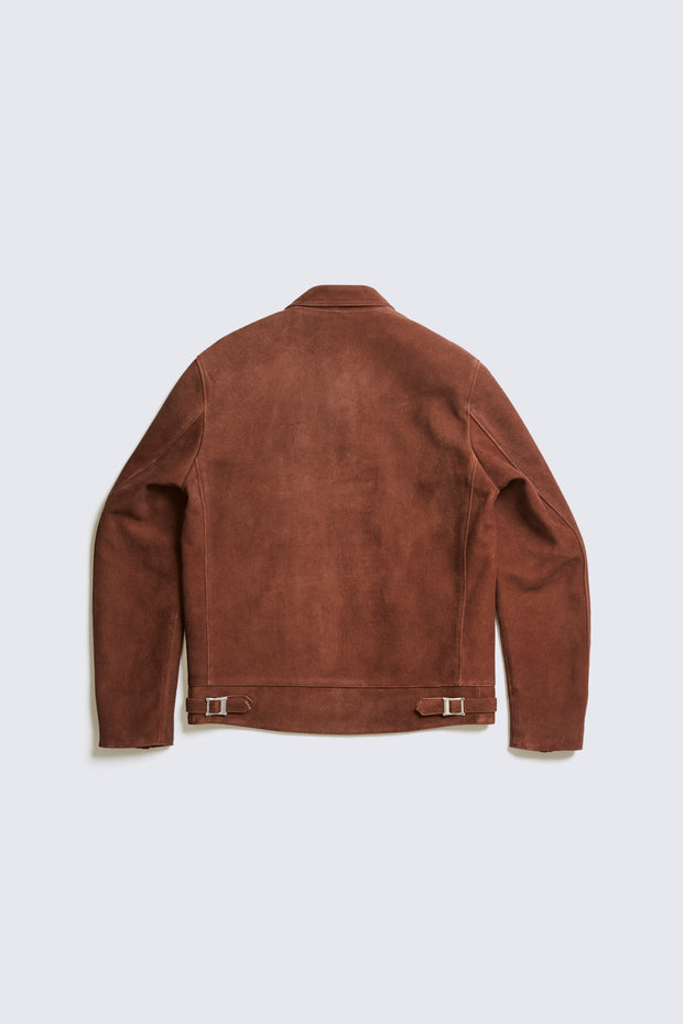 AD-01 CENTER ZIP JACKET (DEER SUEDE)