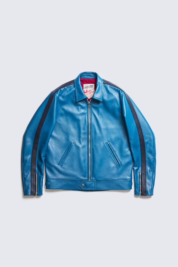 BUILT TO ORDER - AD-01SS CENTER ZIP JACKET SINGLE STRIPE (BLUE DEER)