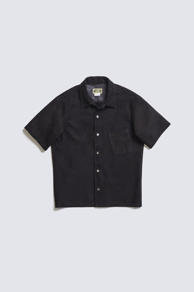 ACV-LSH01 SUEDE OPEN COLLAR SHIRT