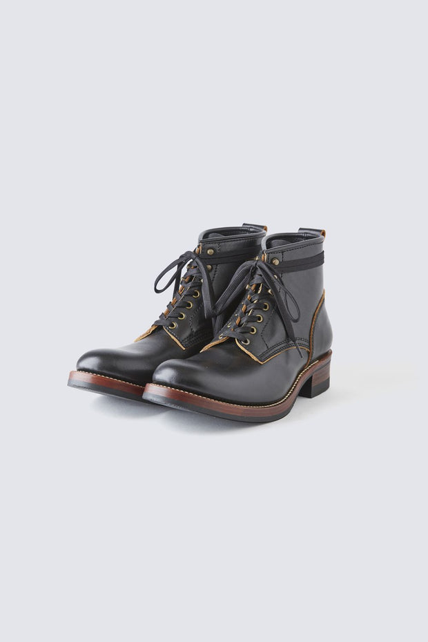 AB-02 STEERHIDE LACE-UP BOOTS