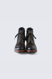 AB-02C STEERHIDE CAP TOE LACE-UP BOOTS