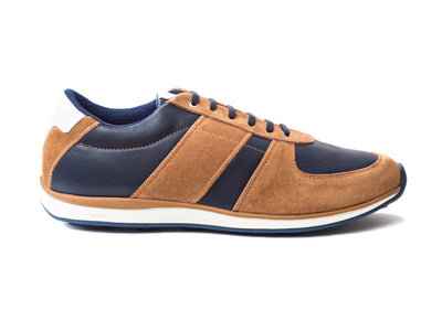 EARTH-LINE NAVY BLUE / COGNAC
