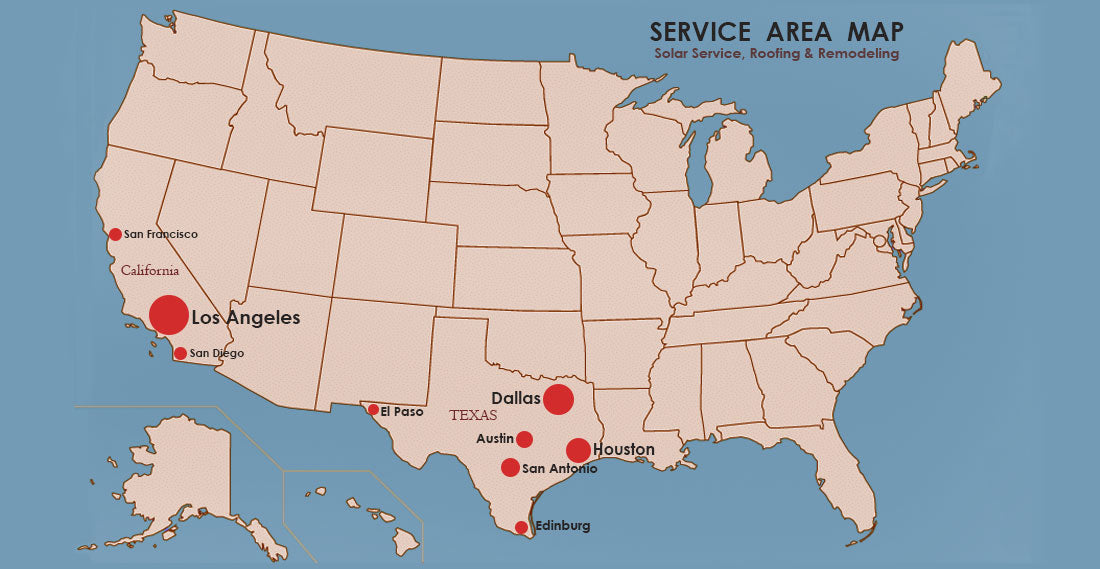 Our service area map