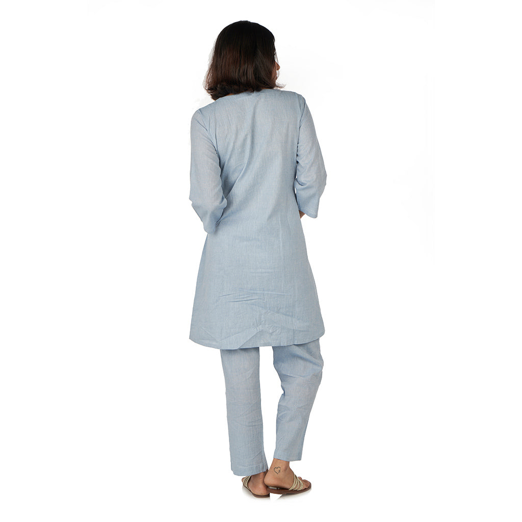 Front pocket kurta with straight