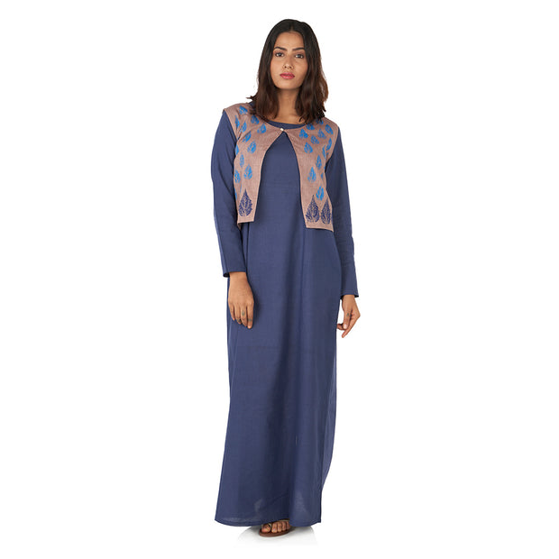 A line maxi dress with jacket