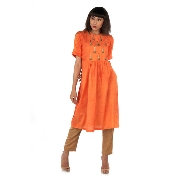 Gathered waist kurta with pants