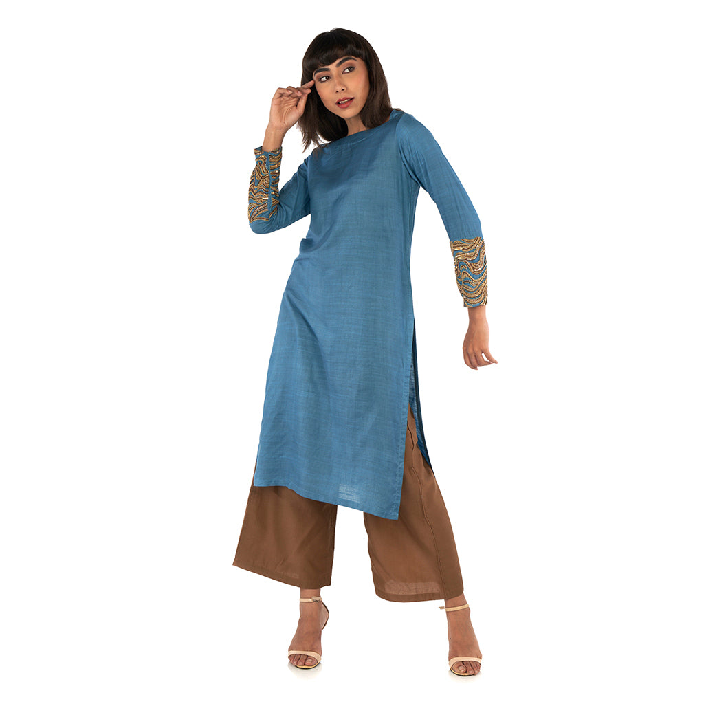 Straight kurta with pants