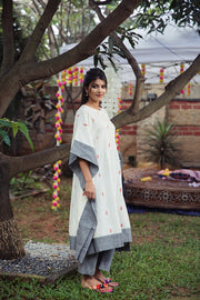 A GLIMPSE OF ELEGANCE KAFTAN SET - OFF WHITE