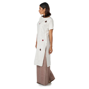 Dots  kurta with flared palazzos pants