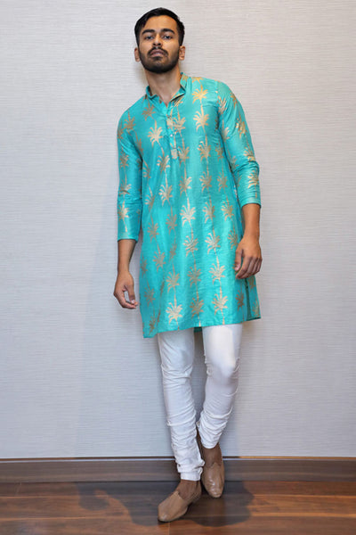 Green Foliage kurta
