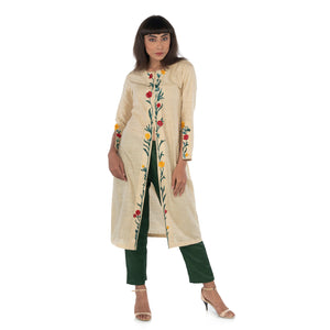 Front open kurta with pants