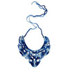 Multishade blue necklace