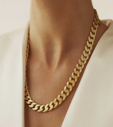 Nootka Jewelry Raw Necklace Gold