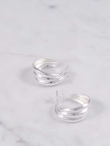 Scallop Hoops Silver