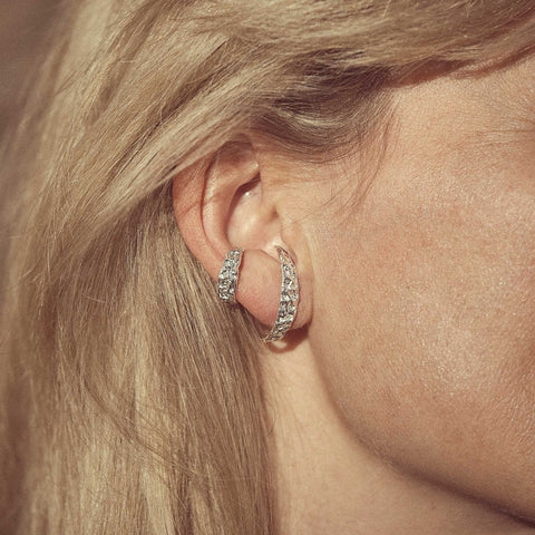 Bjørg Jewellery Ear Cuff Whisper of Light og Cosmic Rays Earring