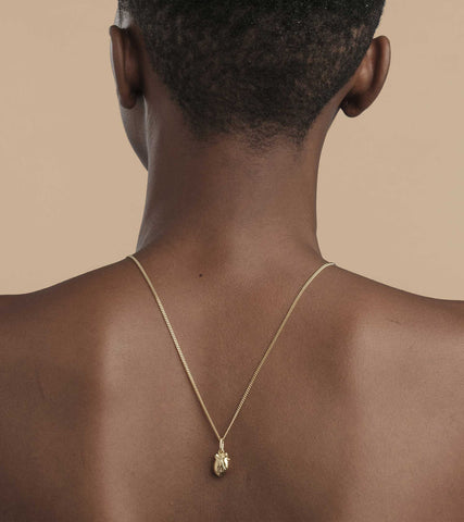 Bjørg Human Heart Gold Necklace