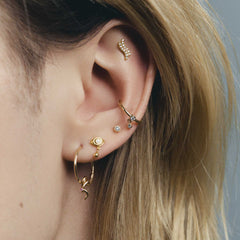 Maria Black Piercing ear earrings