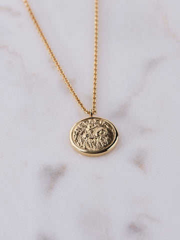 Tom Wood Coin Pendant Gold Short