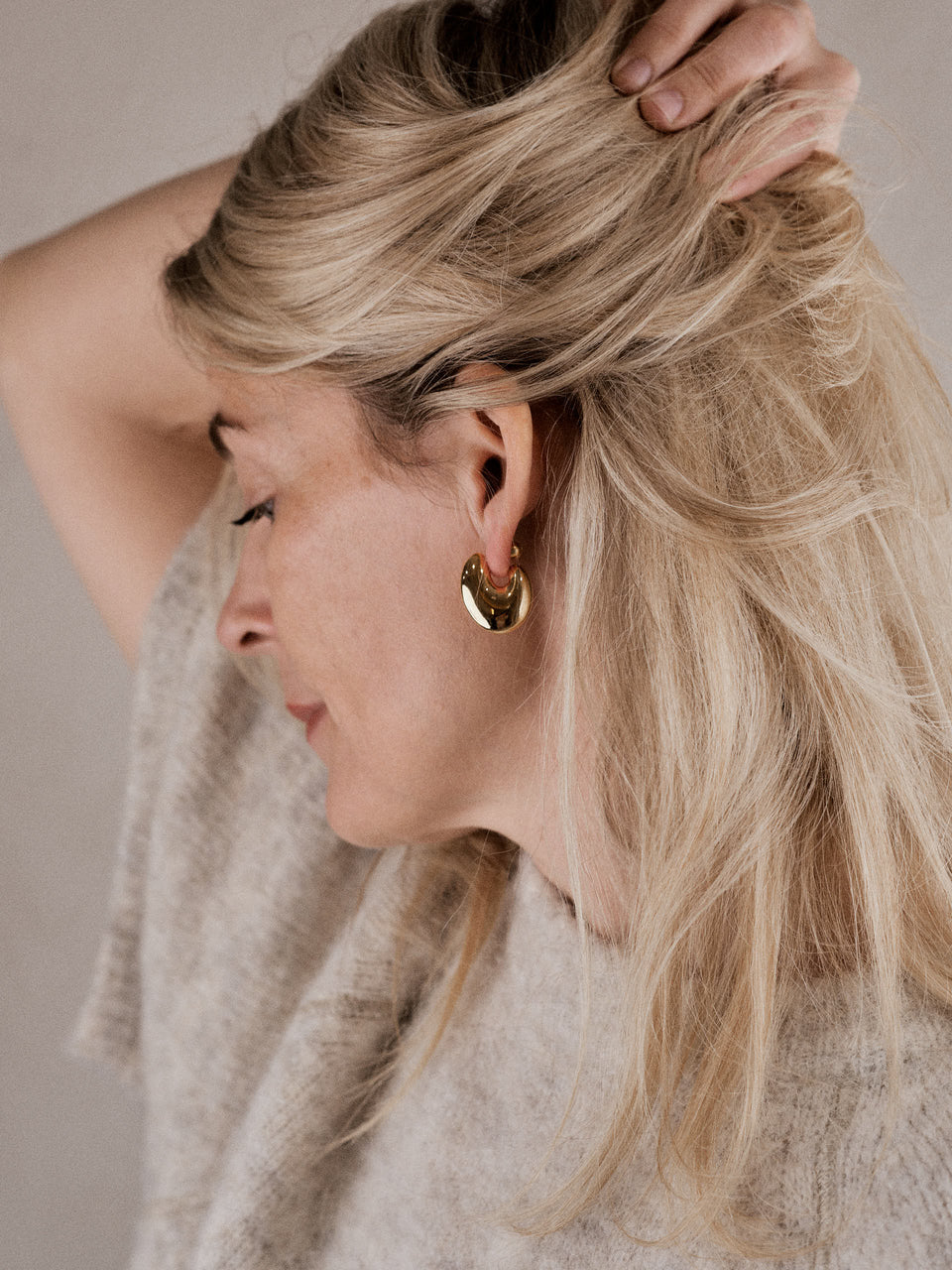 Maria Black / Esther Earring Gold / Ørering i gull