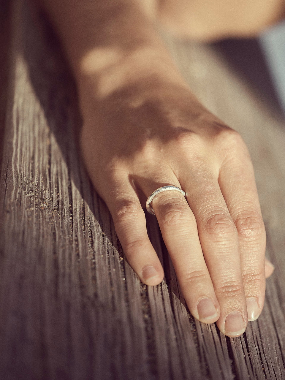 Bjørg Jewellery / Moon Plain Ring / Ring i sølv