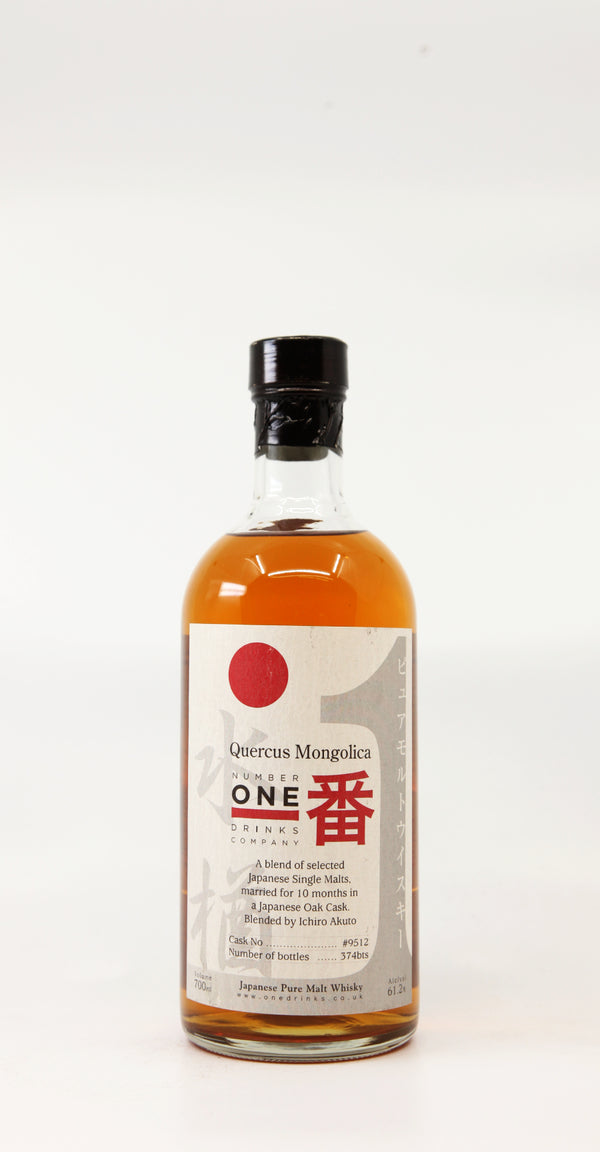 QUERCUS MONGOLICA 10 MONTHS BLENDED BY ICHIRO AKUTO #9512 JAPANESE OAK CASK 70CL