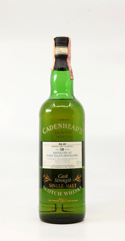 PORT ELLEN 1980 18 YEARS CADENHEAD'S AUTHENTIC COLLECTION OAK CASK 70CL