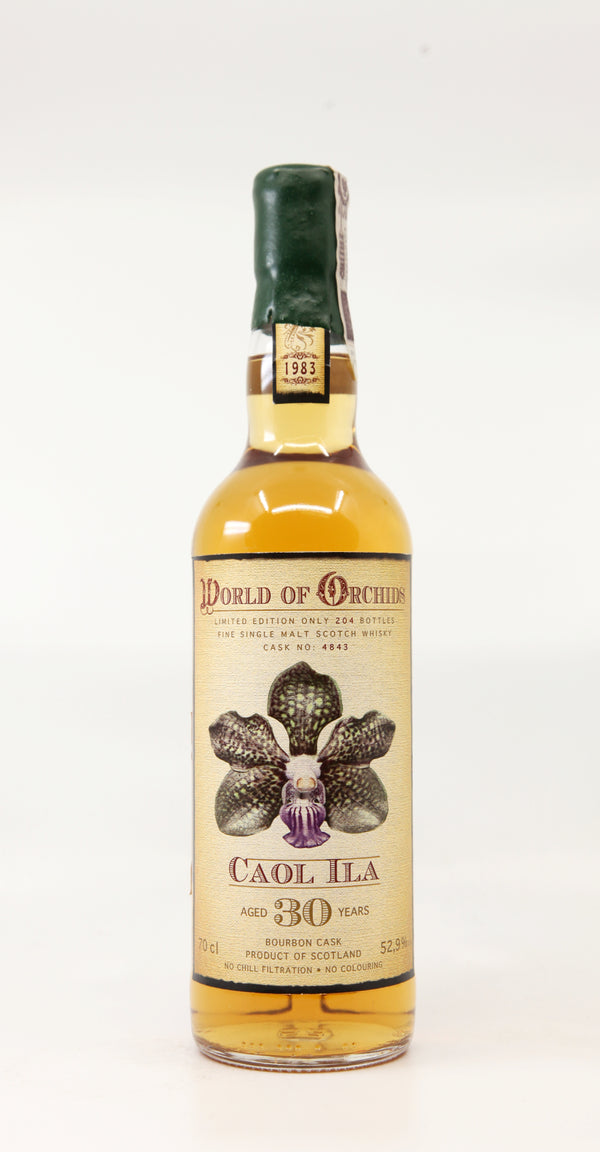 "CAOL ILA 1983 30 YEARS ""WORLD OF ORCHIDS"" SELECTED BY JACK WIEBERS #4843 BOURBON CASK 70CL"