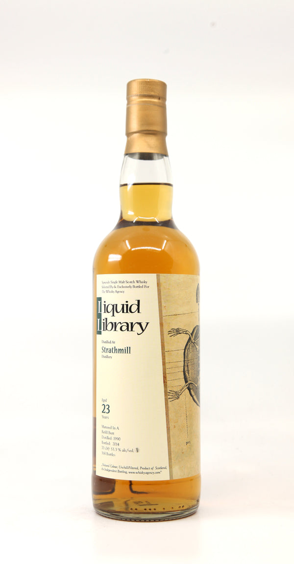 "STRATHMILL 1990 23 YEARS THE WHISKY AGENCY ""LIQUID LIBRARY"" REFILL BUTT 70CL"